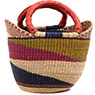 African Basket - Ghana Bolga - Mini Yikene Tote - 11.5 Inches Across - #78474