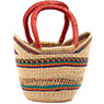African Basket - Ghana Bolga - Mini Yikene Tote - 11.5 Inches Across - #78476