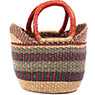 African Basket - Ghana Bolga - Mini Yikene Tote - 10.5 Inches Across - #78477