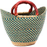 African Basket - Ghana Bolga - Mini Yikene Tote - 11.5 Inches Across - #78478