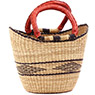African Basket - Ghana Bolga - Mini Yikene Tote - 10.5 Inches Across - #78479