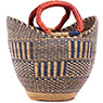 African Basket - Ghana Bolga - Mini Yikene Tote - 11.5 Inches Across - #78481
