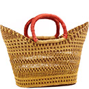 African Basket - Ghana Bolga - Petal Shopping Basket - 18 Inches Across - #78522