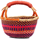 African Mini Market Basket - Ghana Bolga - 10 Inches Across - #78560