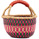 African Mini Market Basket - Ghana Bolga -  9 Inches Across - #78562