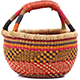 African Mini Market Basket - Ghana Bolga -  9.5 Inches Across - #78563