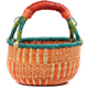 African Mini Market Basket - Ghana Bolga -  9 Inches Across - #78565