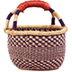 African Mini Market Basket - Ghana Bolga -  9 Inches Across - #78568