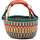 African Mini Market Basket - Ghana Bolga -  9 Inches Across - #78571