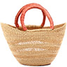 African Basket - Ghana Bolga - Mini Yikene Tote - 14.5 Inches Across - #78617