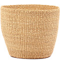 African Basket - Ghana Bolga - Storage Basket - 11.5 Inches Across - #78620 Natural Grass