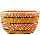 African Basket - Ghana Bolga - No Handle Market - 16 Inches Across - #78900