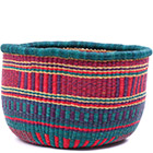 African Basket - Ghana Bolga - No Handle Market - 16 Inches Across - #78902