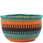 African Basket - Ghana Bolga - No Handle Market - 16 Inches Across - #78906