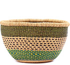 African Basket - Ghana Bolga - No Handle Market - 15 Inches Across - #78908