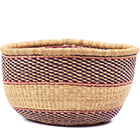 African Basket - Ghana Bolga - No Handle Market - 17 Inches Across - #78909