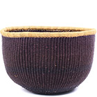 African Basket - Ghana Bolga - No Handle Market - 15 Inches Across - #78911