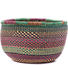 African Basket - Ghana Bolga - No Handle Market - 15 Inches Across - #78913