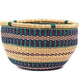 African Basket - Ghana Bolga - No Handle Market - 16.5 Inches Across - #79133