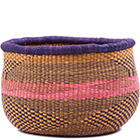 African Basket - Ghana Bolga - No Handle Market - 15 Inches Across - #79263