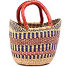 African Basket - Ghana Bolga - Mini Yikene Tote - 10 Inches Across - #79266