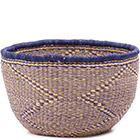 African Basket - Ghana Bolga - No Handle Market - 15 Inches Across - #79716