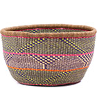African Basket - Ghana Bolga - No Handle Market - 16 Inches Across - #79717