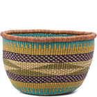 African Basket - Ghana Bolga - No Handle Market - 15.5 Inches Across - #79718