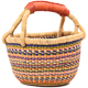 African Mini Market Basket - Ghana Bolga -  9 Inches Across - #79858