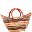 African Basket - Ghana Bolga - Petal Shopping Basket - 22 Inches Across - #79884