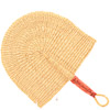 Hand Fan - Ghana Bolga - African Woven Grass -  11.5 Inches Wide - #81010 Natural Grass