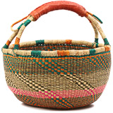 African Market Basket - Ghana Bolga - Large - 16 Inches Across - #82021