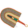 Hand Fan - Ghana Bolga - African Woven Grass -  9.5 Inches Wide - #82178