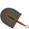 Hand Fan - Ghana Bolga - African Woven Grass -  9.5 Inches Wide - #82179