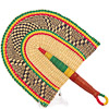 Hand Fan - Ghana Bolga - African Woven Grass -  11 Inches Wide - #82180