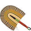 Hand Fan - Ghana Bolga - African Woven Grass -  11 Inches Wide - #82182