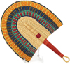 Hand Fan - Ghana Bolga - African Woven Grass -  11.5 Inches Wide - #90323