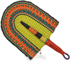 Hand Fan - Ghana Bolga - African Woven Grass -  10 Inches Wide - #90325