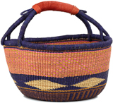 African Market Basket - Ghana Bolga - Large - 16 Inches Across - #90499
