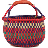 African Market Basket - Ghana Bolga - Large - 16 Inches Across - #90531