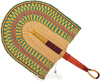 Hand Fan - Ghana Bolga - African Woven Grass -  10.5 Inches Wide - #90702