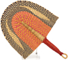 Hand Fan - Ghana Bolga - African Woven Grass -  11.5 Inches Wide - #90703