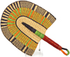 Hand Fan - Ghana Bolga - African Woven Grass -  10.5 Inches Wide - #90705