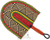 Hand Fan - Ghana Bolga - African Woven Grass -  10 Inches Wide - #90706