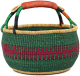 African Market Basket - Ghana Bolga - Large - 16 Inches Across - #90714