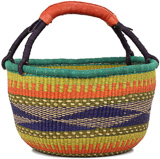 African Market Basket - Ghana Bolga - Large - 16 Inches Across - #90773