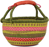 African Market Basket - Ghana Bolga - Large - 16 Inches Across - #90774
