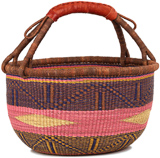African Market Basket - Ghana Bolga - Large - 16 Inches Across - #90775