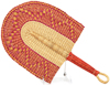 Hand Fan - Ghana Bolga - African Woven Grass -  9.5 Inches Wide - #90799