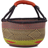 African Market Basket - Ghana Bolga - Large - 16 Inches Across - #90955